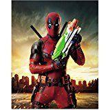 #7: Deadpool Ryan Reynolds as Deadpool with Nerf gun 8 x 10 Inch Photo