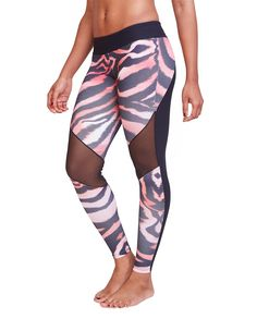 240636bd62 Kylie Black and Pink Leopard Leggings  yogapants  leggings  fitness  yoga  Leopard Leggings