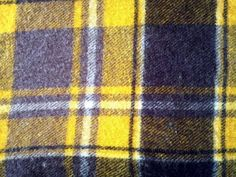 Vintage Faribo Yellow and Brown Plaid Wool Blanket (51 x 50 inches)
