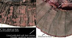 Article on different Victorian bustle dress hem pleats 1880s Fashion, Victorian Fashion, Lace Parasol, Victorian Pattern, Bustle Dress, Gown Pattern, Victorian Costume, Vintage Outfits, Vintage Clothing