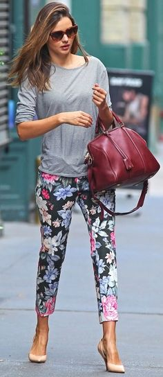 Miranda Kerr flower power pants