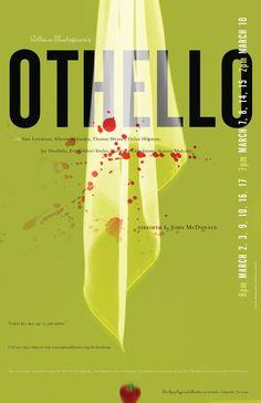 Othello | Othello poster, Theatre poster, Shakespeare