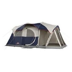 Coleman Elite WeatherMaster Tent – 17′x9′ 6 Person Cabin Tent with LED Light System & Screenroom | Camping Gear