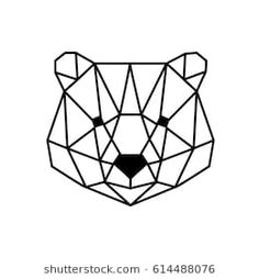 Geometric horse design silhouette vector image on VectorStock Origami Tattoo, Geometric Drawing, Geometric Shapes, Geometric Bear Tattoo, Geometric Animal, Metal Clock, Metal Wall Art, Design Lotus, Roman Clock