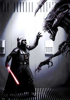 Darth Vader Meets His Match by Robert Shane  He has created many other excellent pieces as well; I just wish he would do a sequel for this one.