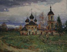Cool Paintings, Beautiful Paintings, Landscape Paintings, Landscapes, Russian Painting, Russian Art, Building Art, City Scene, Conceptual Art