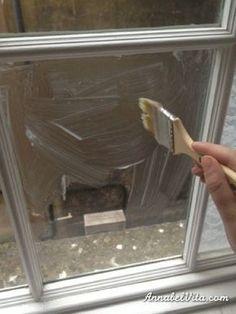 Si jamais vous avez besoin d'un peu d'intimité, givrez vos fenêtres avec de l'amidon de maïs.