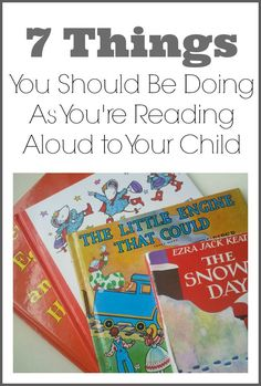 7 Things you should be doing as you're reading aloud to your child/ we do this. It does work