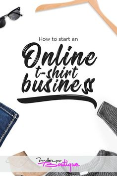 How To Start An Online T-Shirt Business - Shopify Website - Start your free trial Shopify Website. - How to start an online t-shirt business for profit. Learn the proper business plan to start your online boutique whether on Shopify or Teespring. Starting A Tshirt Business, Start Online Business, Sell Your Business, Craft Business, Home Based Business, Etsy Business, E Commerce Business, Business Marketing, Business Planning
