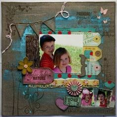 Love the mixed media that is added to this layout