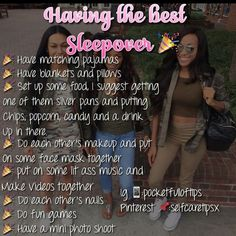 Slumber party checklist for a successful sleepover Teen Sleepover, Fun Sleepover Ideas, Sleepover Activities, Birthday Party Ideas For Teens 13th, Friend Activities, Things To Do At A Sleepover, Things To Do When Bored, Best Friend Dates, Best Friends