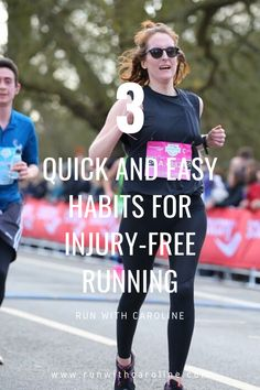 3 quick and easy habits for injury free running Get Shredded, Injury Prevention, Good News, Caroline Blog, Runners, How To Become, This Or That Questions, Fitness, Easy