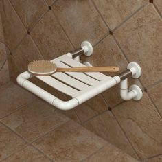 Marion Deluxe Shower Seat - Off-White