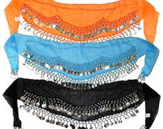 Kid Size Party Favor Belly Dance Hip Scarf Wrap Coin Belts