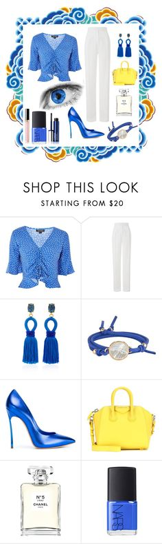 """""""Drinks after Work"""" by airsunshine ❤ liked on Polyvore featuring Topshop, Amanda Wakeley, Oscar de la Renta, Asha by ADM, Casadei, Givenchy, Chanel, NARS Cosmetics and Clinique"""