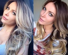 From Bleach Blonde to Brunette Ombre Crystal Hefner. I gave her additional highlights and specially ombre extensions