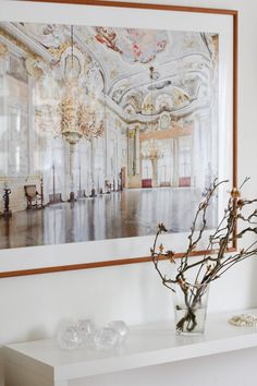 Framed interior palace photo print