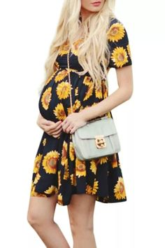 Women Sleeveless Pregnant Maternity Dress Flower Nursing Pregnancy Casual Mother Nursing Dress Top Breastfeeding Dress Maternity Mini Dresses, Maternity Wear, Breastfeeding Dress, Pregnancy Dress, Nursing Dress, Types Of Dresses, Flower Dresses, Fashion Prints, Clothes