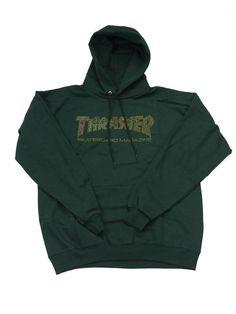 5f2f30dfca22 Thrasher Davis Hoodie in Forest Green - Yagö