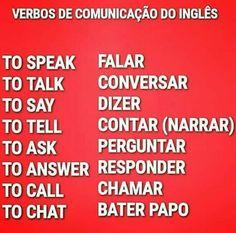 Verbos que expressam comunicação em inglês