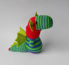 Treacher Creatures sock and crochet animals | sock dragon