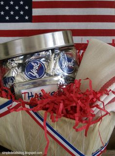 Simple Details: the simplest july 4th decor & hostess gift...