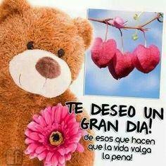 Te deseo un gran dia http://enviarpostales.net/imagenes/te-deseo-gran-dia/ Saludos de Buenos Días Mensaje Positivo Buenos Días Para Ti Buenos Dias