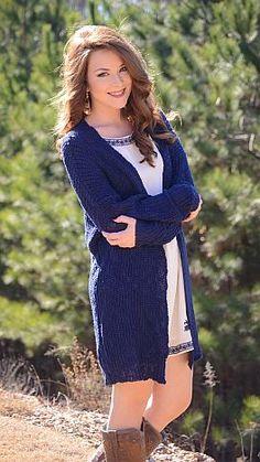Color Craze Cardigan, Navy :: NEW ARRIVALS :: The Blue Door Boutique