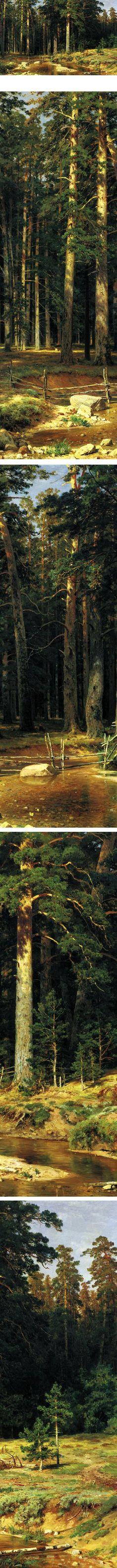 ⚓♡salt air⊰⛵  .    The Mast-tree Grove, Ivan Shishkin