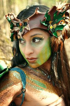 Hey, I found this really awesome Etsy listing at http://www.etsy.com/listing/150342207/tribal-faerie-leather-headdress-earthy