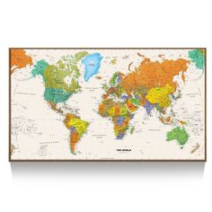 World Map Wall Mural wall murals and photo murals in all sizes. Plus tips on mural installation. World Map Wallpaper, World Map Canvas, World Map Poster, World Map Wall Art, Wall Maps, Of Wallpaper, Wall Mural, Prepasted Wallpaper, Eclectic Wallpaper