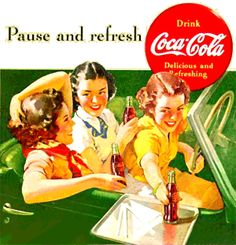 Spotlight on Golden Age Advertising | Coca Cola | Calendar Girl Advertising