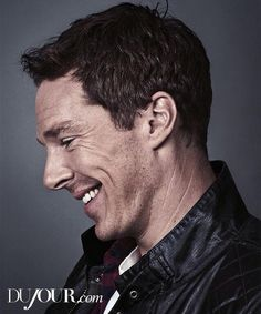 Love the smile and all the wrinkles. Benedict Cumberbatch
