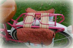 ENTRELAZOS, de tela y amistad.: PIÑON FIJO, Alforjas Cycle Saddle Bag, Saddle Bags, Bike Bag, Baby Strollers, Cycling, Cross Stitch, Bicycle, Basket, Embroidery