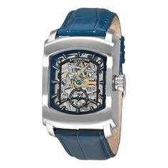 Stuhrling Originals Men's Midtown Banker Mechanical Leather Strap Watch