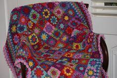 mitali's granny squares: free pattern