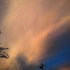 夕焼け雲  #空 #夕空 #夕焼け #雲 #夏 #梅雨明け  #sky #evening #skyline #clouds #sunnyday #japan #landscape #today #daily #instagram #instagood #instalike #instagramjapan #instaoftheday #picoftheday #photography