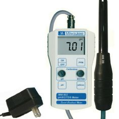 Milwaukee BEM802 Combination pH/EC/TDS Meter with 110V Power and Mounting Kit, 0.00 to 14.00 pH, +/-0.20 pH Accuracy by Milwaukee. $169.90. The Milwaukee BEM802 is a portable pH, electro-conductivity (EC), and total dissolved solids (TDS) meter with Automatic Temperature Compensation (ATC), manual one-point calibration using dials, a single-line LCD screen, a combined pH, EC, TDS and temperature probe, a mounting kit, and a probe holder. A pH/EC/TDS/temperature mo...