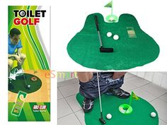 eSmart Toilet Time Golf Game Mini Toilet Bathroom Golf Set A Whimsical Golfing Practice Potty Putter Toilet Golf Game Toilet Golf *** Want to know more, click on the image.
