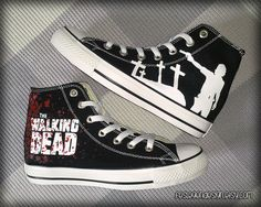 The Walking Dead Custom Converse / Painted Shoes by FeslegenDesign
