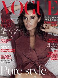 Victoria Beckham Reveals How She Fell In Love with Hubby David In 'British Vogue'!: Photo Victoria Beckham is absolutely gorgeous as she takes the 2016 October cover of British Vogue, on newsstands now! The fashion designer has written… Vogue Covers, Vogue Magazine Covers, Vogue Uk, Vogue Fashion, Vogue 2016, Gucci Fashion, London Fashion, Fashion News, Girl Fashion