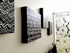 black and white wall art. Cute idea for bathroom i'm trying to decorate.