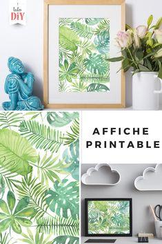 """Imprimer cette affiche gratuite """"Tropical"""" pour décorer votre intérieur. https://www.tuto-diy.com/deco/affiche-printable-gratuite-tropical/102?utm_source=pin&utm_medium=pin #deco #DIY #printable"""
