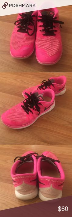 Nike sneakers Pink Nike sneakers, very comfy, worn only a couple of times Nike Shoes Sneakers