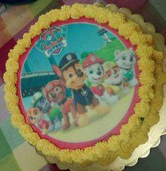 Torta decorata con cialda PAW PATROL