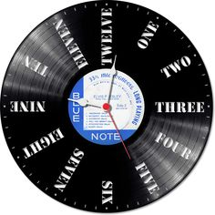 Everything goes ahead and time first! Try to keep a little of it with this vinyl clock.
