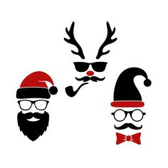 Hipster Christmas Cuttable Design Cut File. Vector, Clipart, Digital Scrapbooking Download, Available in JPEG, PDF, EPS, DXF and SVG. Works with Cricut, Design Space, Cuts A Lot, Make the Cut!, Inkscape, CorelDraw, Adobe Illustrator, Silhouette Cameo, Brother ScanNCut and other software.