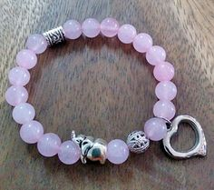 Simple pink beads bracelet made by Parinda Sriyaphai from LC.Pandahall.com   #pandahall