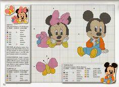Encontrado en meusgraficosdepontocruz.blogspot.com Baby Minnie & Mickey