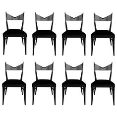 Set of Eight Sculptural Dining Chairs by Paul McCobb for Calvin | From a unique collection of antique and modern dining room chairs at https://www.1stdibs.com/furniture/seating/dining-room-chairs/